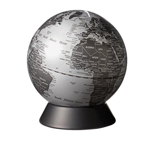 emform Mini-Globus, Orion Matt Silver, Metall & Kunststoff, 130 x 150 mm