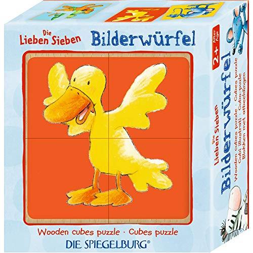 Die Spiegelburg 15100 Bilderwürfel Die Lieben Sieben (4er Set)