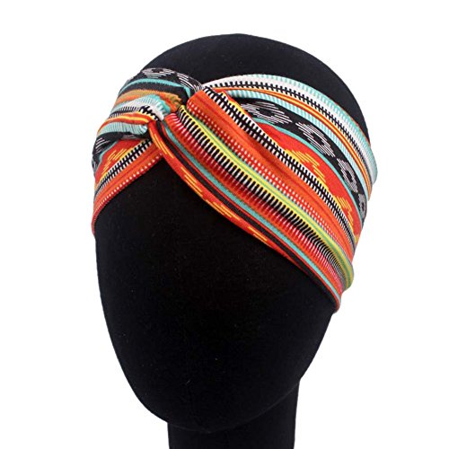 Toruiwa Bandeaux de Cheveux Elastique Style Bohémien Serre-tête à Nœud pour Accessoire de Cheveux Femme (Style A)