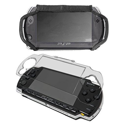G-HUB - Crystal Case & Faux Leather Cover Bundle for Sony PSP