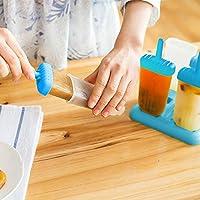 HelpCuisine® Stampi ghiaccioli - Stampi per gelati realizzati in plastica di alta qualità priva di BPA e approvata dalla FDA, ideale per la preparazione di ghiaccioli, gelati, sorbetti,(Blu) #5