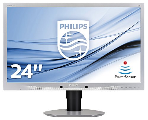Philips 241B4LPYCS/00 61 cm (24 Zoll) Monitor (VGA, DVI, USB, DisplayPort, 1920 x 1080, 60 Hz, Pivot) silber