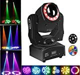 Moving Head Spot Light 85W Led Stage Lighting RGBW Kaleidoscope With 15 Gobos Patterns Wash Lights By Sound Activated DMX 512 Control 9/11Ch For Wedding Concert Dj Disco Party Show (1pack)
