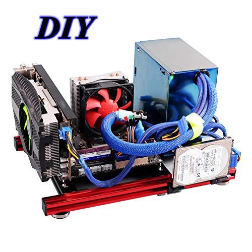Wendry Mini Caja ITX para computadora, DIY Mini Marco de aleación de Aluminio Abierto ITX Motherboard PC Case, Desmontaje liviano y Conveniente