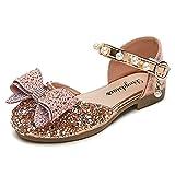 YOSICIL Zapatos de la Princesa con Lentejuela Zapatos Bailarina para Niña Zapatilla de Ballet Zapatos de Sandalias para Fiesta Halloween Cumpleaños Azul EU22-35