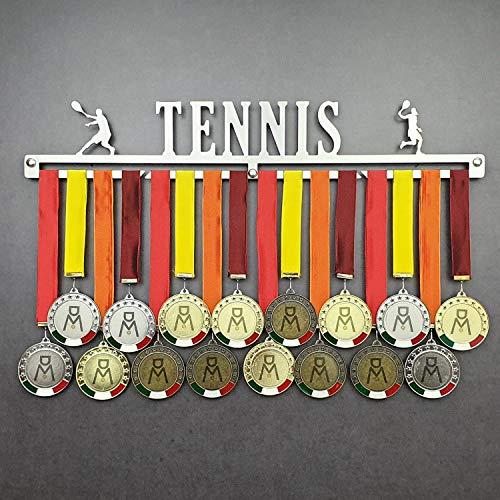 Tennis - Medagliere da Parete - Porta medaglie Tennis - Sport Medal Hanger - Display Rack (600 mm x 100 mm x 3 mm)