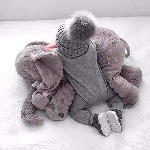 Turtle Baby Elephant Pillow (Grey)