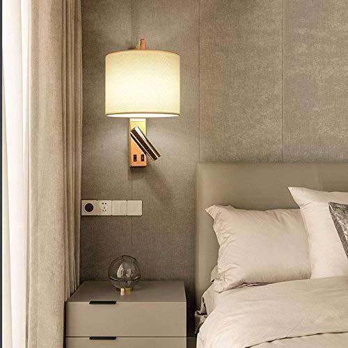 Mkjbd Wandlantaarn Tuin Lamp Wandlamp Wandlamp Mode Eenvoudige RVS Stof Wandlampen Woonkamer Eetkamer Binnen Led Muur 20 Cm x 20 Cm x 35,5 Cm Mooi, MM