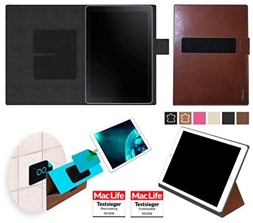 Hülle für Samsung Galaxy Book 10.6 (LTE) Cover Hülle Bumper | in Braun Leder | Testsieger