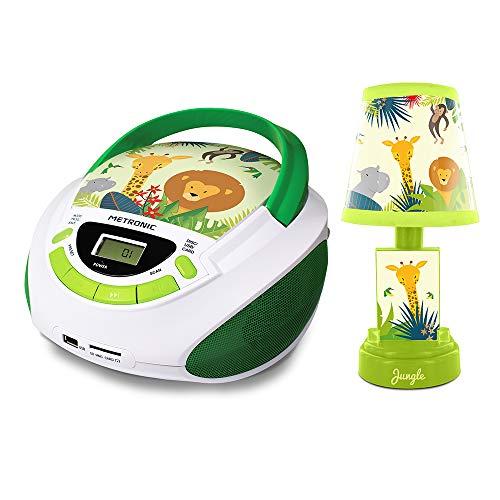 METRONIC 477270 CD-Radio und Lampe im Dschungel-Stil