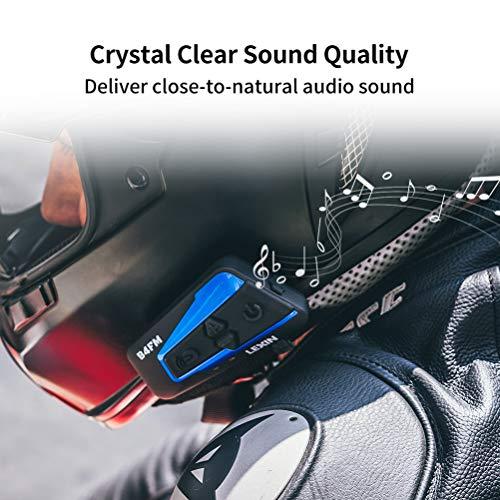 LEXIN B4FM Motorradhelm Intercom, Bluetooth Motorrad Headset Windgeräuschreduzierung, Bluetooth-Kommunikationssystem für Motorräder - 3