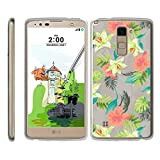 TurtleArmor   Compatible with LG Stylus 2 Plus Case   LG Stylo 2 Plus Case [Flexible Armor] Ultra Slim Compact Clear Flexible TPU Case Fitted Soft Bumper Cover Girls - Hawaiian Flowers