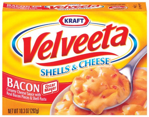 Kraft Velveeta, Shells & Cheese with Bacon, 10.3-Ounce Boxes (Pack of 12)
