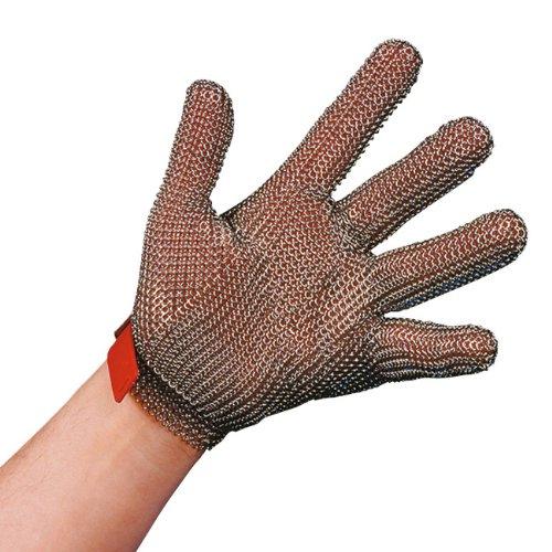 Stahlnetz Stechschutzhandschuh PROTEC nach EN 1082, Größe M