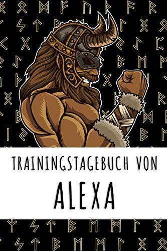 Trainingstagebuch von Alexa: Personalisierter Tagesplaner für dein Fitness- und Krafttraining im Fitnessstudio oder Zuhause