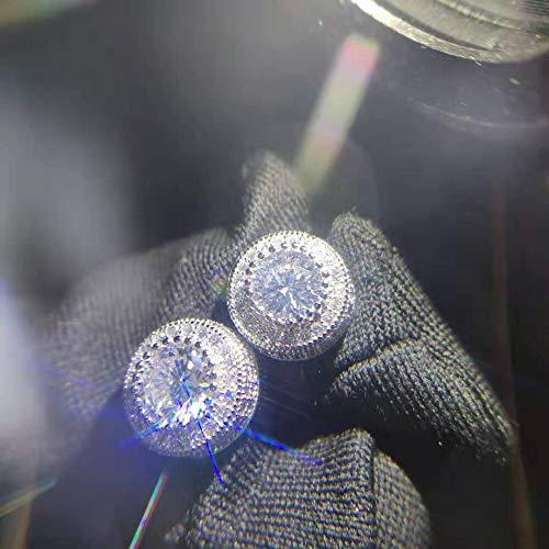 FEIYI Pendientes de tuerca de plata de ley 925 para mujeres y hombres, joyería de fiesta de rock