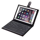 SCIMIN Étui universel en cuir synthétique avec clavier Bluetooth pour tablette Sony Xperia Z2 25,4...
