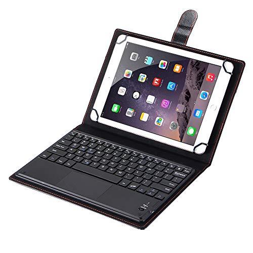 SCIMIN Funda universal para tablet Sony Xperia Z2 de 10 pulgadas, funda de piel sintética con teclado Bluetooth (ratón) para Sony Xperia Z2 Tablet