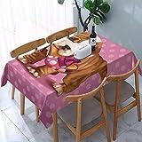 Mantel rectangular de Bulldog inglés y zapatos, impermeable, resistente a las arrugas, lavable, para cenar fiestas y uso al aire libre, 54 x 72 pulgadas