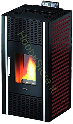 Estufa de la Granulación Freepoint Cadel canalizzabile Gioia Mod. 5 KW, Color Blanco y Rojo