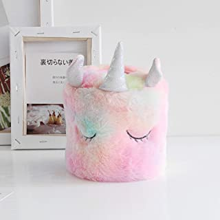 Unicorn Plush Tissue Box Cover Napkin Box Tissue Storage Box Container Soft Tissue Holder, Cute Tissue Cover for Bedroom, Kitchen, Cars, Outdoor, Kids Room