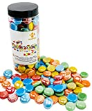ROOFOO Glass Gems Flat Marble Beads Art Mosaics Multicolor Mixed Colors 1.5 LB for Vase Fillers,Crafts,Home Table Scatter,Fountain,Decoration,Suncatcher