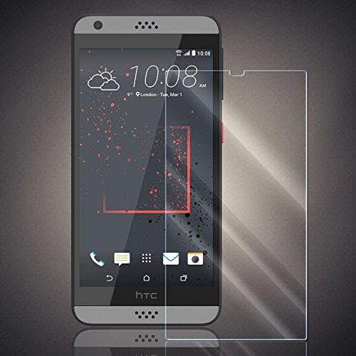 Panzerfolie für HTC Desire 530/630 Panzer Schutzglas Folie Premium Bildschirmschutzfolie [Screen Protector] 9H HD Glasfolie Hartglas Schutzfolie Displayschutz