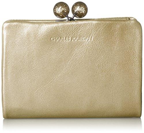 [シャルルジョルダン] がま口二つ折り財布 キャンディー ゴールド