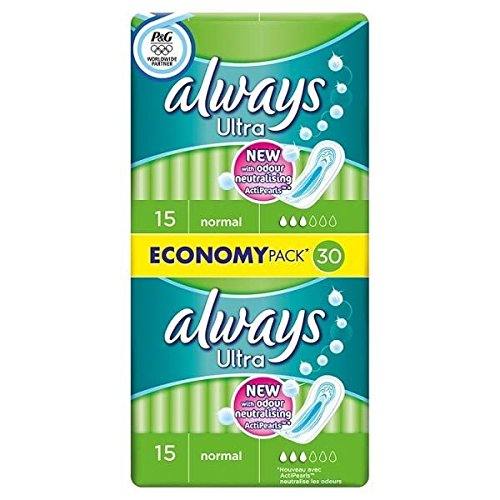 Always Ultra Normal Duo Pack Sanitary Pad Multipack 30PK