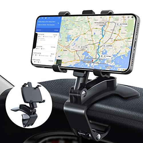 GESMA Handyhalterung Auto Handyhalter fürs Auto Lüftung 360°Drehbar Flexibel Silikon Schutz Smartphone Halterung Auto Kompatibel mit iPhone/Samsung/Huawei/Google/Xiaomi/LG oder GPS-Gerät. (Black)