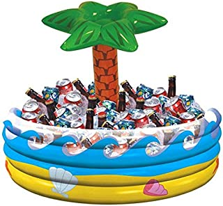 Amscan Palm Tree Oasis Inflatable Party Cooler, 28.5
