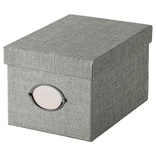 IKEA KVARNVIK Kasten mit Deckel; in grau; (18x25x15cm)
