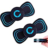 2 Pcs Reactivate EMS Electric Massager Pad,Electric Breast Massage Pad,Electric Breast Enhancer Chest Frequency Massager,Adjustable Bra Booster Growth Stimulator