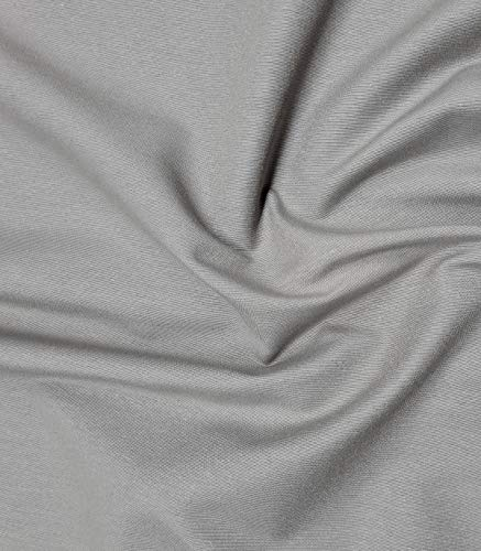 Tela loneta lisa de 280cm ancho color Gris y 190gr/m2 Tela para interiores. Se vende a metros