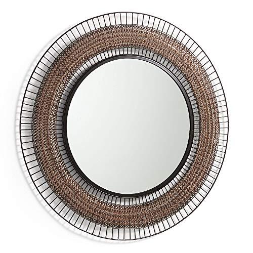 Kave Home ronde spiegel Rob met stalen frame
