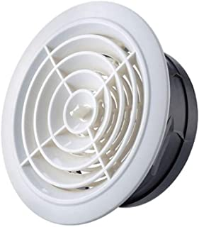 LXLTL Vent Cowl Ventilation Window Ventilation Port Exhaust Vent Air Hood Outdoor Bathroom Cap Wind Cap Exhaust Pipe Ceiling shutters ABS Plastic White,75mm