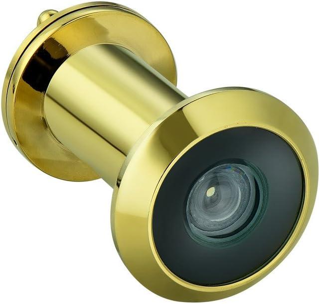 negro Mirilla para puerta con ca/ña de lat/ón para puertas de entre 4 y 2 cm Togu 3016YG visi/ón de 220 grados