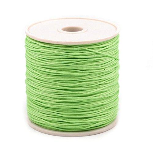 Kordel-Schnur | Ø 0,5 mm bis 1,0 mm | PES | in verschiedenen Farben | Preis per Meter (Hellgrün)