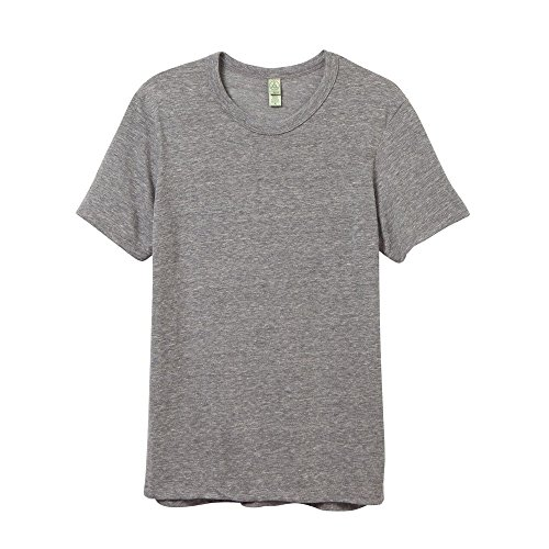 ALTERNATIVE APPAREL Herren Jersey Crew T-Shirt, Öko-Grau, L