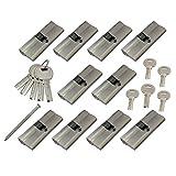 10x Zylinder Schlösser 60 mm mit je 5 Schlüssel