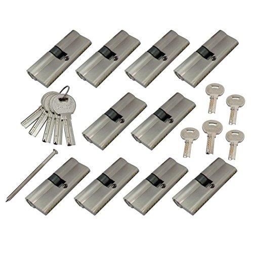 10x Zylinder Schlösser 60 mm (30x30) mit je 5 Schlüssel + 5 Zentralschlüssel Generalschlüssel dabei
