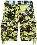 2021 Mens Militar Cargo Cortos Ejército Camuflaje Pantalones Cortos Hombres Algodón Suelto Trabajo Casual Pantalones Cortos