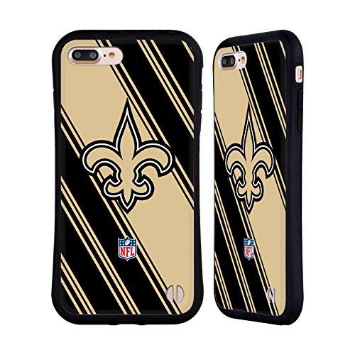 Head Case Designs Oficial NFL Rayas 2017/18 Santos de Nueva Orleans Carcasa híbrida Compatible con Apple iPhone 7 Plus/iPhone 8 Plus