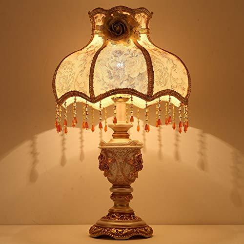 Dr.Sprayer Lámpara de Techo Lámpara Europeo clásico Palacio Estilo lámpara de Mesa Dormitorio lámpara de Noche lámpara de Cama Estudio Estudio cálido Interruptor