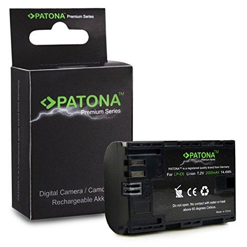 Premium Batería LP-E6 LPE6 para Canon EOS 5D Mark II | EOS 5D Mark III | EOS 6D | EOS 7D | EOS 60D | EOS 60Da | EOS 70D