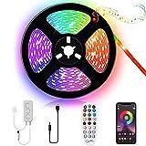 Kallrra Tira LED TV 3M, Luces LED Bluetooth Musica, Tiras LED USB RGB SMD 5050, Tiras de LED Colores con APP Control Remoto para 43-60 Pulgadas HDTV, PC Monitor, Habitacion, Cine en Casa, Escaleras