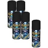 アサヒペン 高耐久ラッカースプレー 300ML ツヤ消し黒 まとめ買い5缶セット