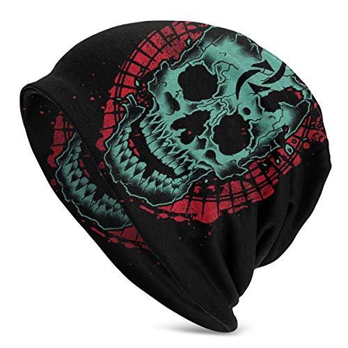 SVDziAeo Gorra de Cobertura Sombreros de Punto Halestorm Gorros Gorro Fino Neutro Protector de oídos Estiramiento Suave Negro cálido