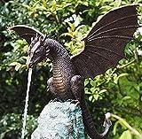 Statue/Fountain Dragon Gothic Garden Decor Statue - Gartenstatuen Drache Ornamente gotisch Deko Gartenfigur,Gartendeko Geschenk,Dekorationen für den Garten, Terrasse, Vorgarten, Rasen