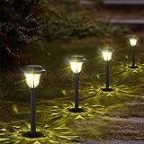10er Solarleuchte Garten Solarlampe für Außen Wasserdicht LED Warmweiß Solar Wegeleuchte Gartenleuchte Dekoratives Licht für Wege Ausfahrt Terrasse Teich mit Erdspieß